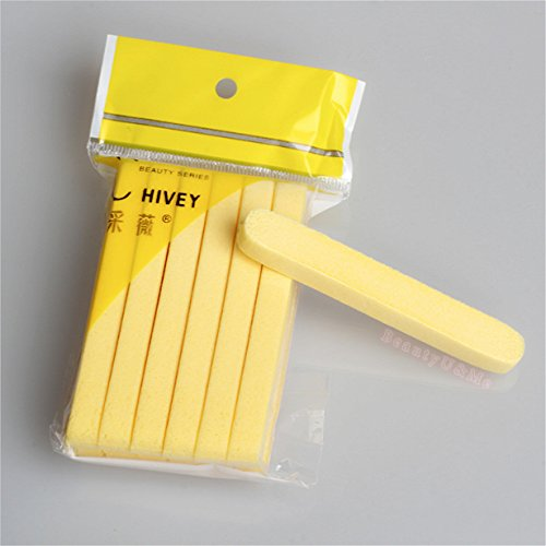 BeautyU&Me 24pcs Compressed Facial Cleaning Wash Puff Sponge Stick Face Cleansing Pad Yellow