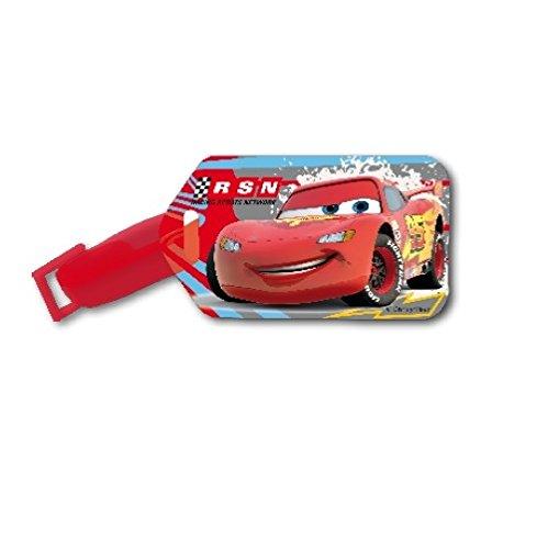 Disney Pixar Cars Children Plastic Luggage Tag Travel Suitcase Baggage Card Holder Name