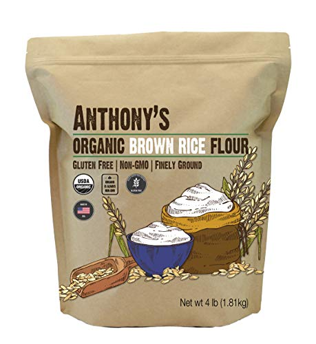 Anthony's Organic Brown Rice Flour, 4 Pound, Gluten Free, Product of USA, Finely Ground