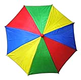 Rainbow Umbrella Hat, Hands Free Head Rain Accessory, 13 Inches