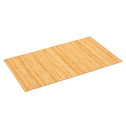 PANA Bambus Badematte • Bambusmatte waschbar • Holz Läufer Badezimmer • 100% Bambus • Größe: 50x80cm • Farbe: Natur