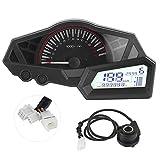 Yctze Contagiri per moto Tachimetro, LCD Contachilometri moto Indicatore livello carburante 15000 RPM ABS Adatto per KAWASAKI NINJA 300/EX300/300SE 13-15