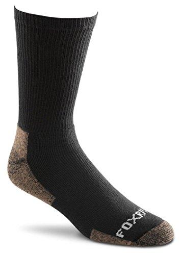 Fox River Cotton Work Crew Cut Socken (3 Paar), unisex, 6527 LG 07000 BLACK, Schwarz, L