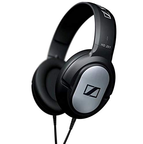 HD201 Auriculares con sonido estéreo potente en auriculares - Negro