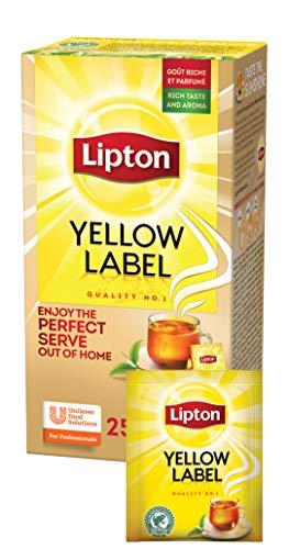 Lipton Yellow Label schwarzer Tee (aus sonnengereiften Teeblätter), 1er Pack (1 x 25 Teebeutel)
