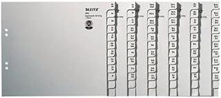 Leitz Jeu d'Intercalaires Répertoire A-Z, Utilisation avec 50 Classeurs, Mi-Hauteur, Extra-Large, Papier 100% Recyclé, Cer...