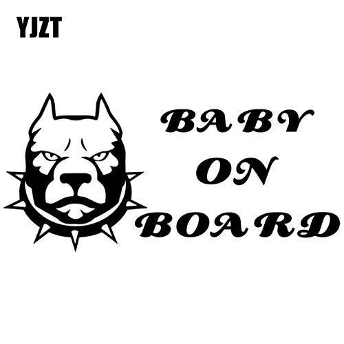 JYIP 16.2X7.7CM Funny Animal Car Bumper Window Vinyl Decal Baby On Board Warning Cartoon Car Sticker C25-0056-white