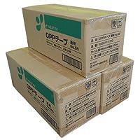 ノーブランド品 OPPテープ No.55 48mm×100m巻 (透明・茶色) 3ケース (計150巻) 透明2ケース+茶色1ケース