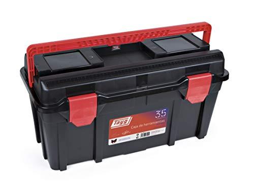 Tayg 4000871321 Werkzeugkasten aus Kunststoff Nr.35 Sortimentkoffer Nr. 35 mit 2 Einlagen und Box 580 x 285 x 290 mm