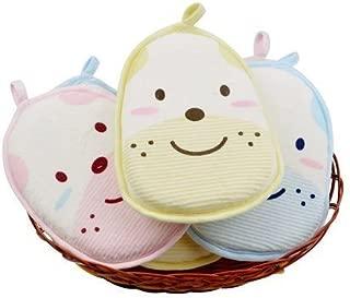 AUCH Newborn /Natural Breathe Freely /Soft Baby Bath Sponge/ Cartoon Great Soft Cotton Brush/ Rubbing Towel/ Ball /Baby Bath Foam Rub Shower Sponge,Random Color