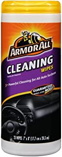 Armor All Cleaning Wipe Plastic Canister - 25 Sheets, (Pack of 6)