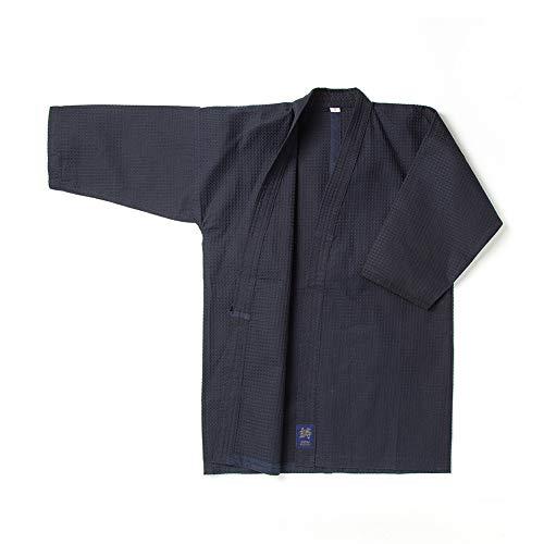 [鋳剣師] 剣道着 蜂巣織 ワッフル道着 剣道 道着 紺 綿製 165cm