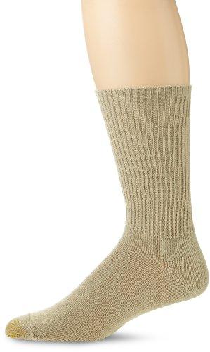 Gold Toe Men's Fluffies Casual Socks, Multipairs, Khaki (1-Pair), Large