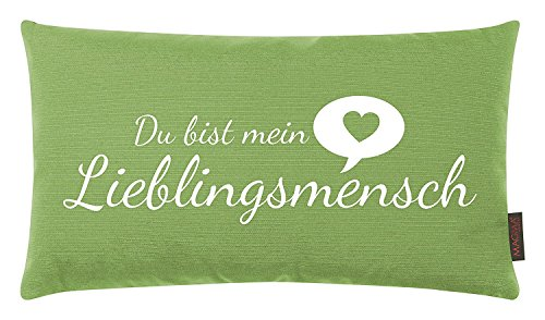 Magma Kissen Lieblingsmensch kiwi grün ca. 30x50cm Made in Germany