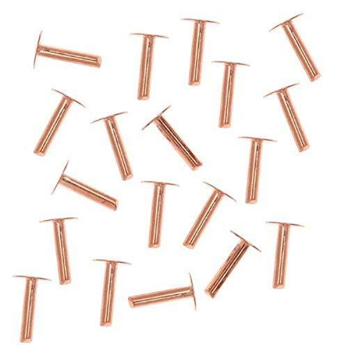 Beadaholique CPRV14 20-Piece Nail Head Rivets, 1.3mm, Copp