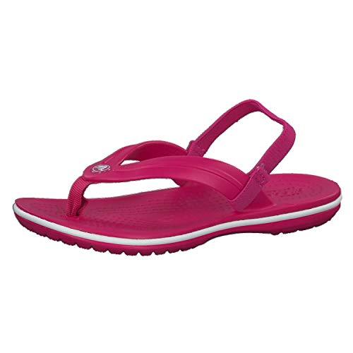 Crocs Unisex-Kinder Crocband Strap Flip Zehentrenner, Pink (Candy Pink 6x0), 30/31 EU