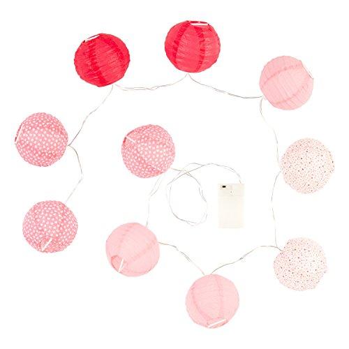 Guirlande lumineuse 10 boules LED rose