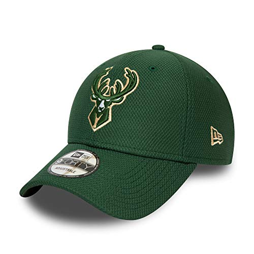 New Era Milwaukee Bucks 9forty Adjustable Cap NBA Diamond Era Green - One-Size