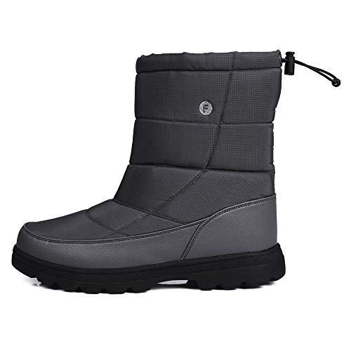 ICHUANGDIANZI Botas Antideslizantes Suaves De Caña Alta para Mujer Comfort Fit Winter (Color : Gray, Size : 42)