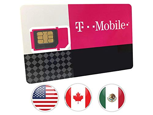 Prepaid-SIM-Karte - 30GB Internet-Daten USA, 5GB Roaming Kanada und Mexiko - Unbegrenzte Anrufe und Texte (30 Tage)