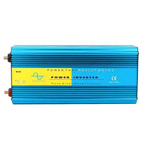 Convertidor de energía, LCD USB Power Inverter Super Power Pure Sine Wave 2 enchufes universales Ventilador doble para disipación de calor 8000W(12V)