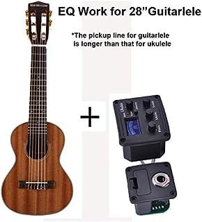 LSWL 28 pulgadas Guitarra Guitalele Guitarlele Ukulele Sapele cuerpo 6 cuerdas 18 trastes clásica perilla con la opción de bolsa, sintonizador, capo (Color : Elelctric Guitarlele, Size : 28 inches)