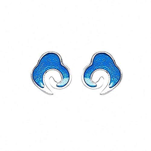 j S925 Sterling Silber Ohrringe Retro Ethnischen Stil Wolken Ohrstecker Ohrringe Natürlicher Handgemachter Einzigartiger Schmuck Für Frauen Und Mädchen,A