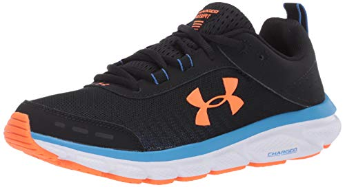 Under Armour mens Charged Assert 8 Running Shoe, Black (003 White, 9 US