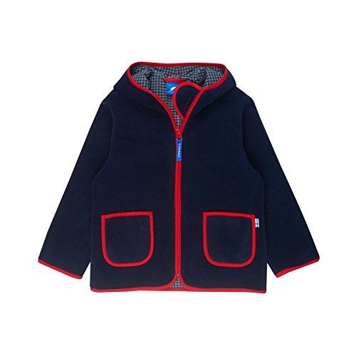 Finkid Tonttu Navy red Kinder Zip In Fleece Jacke