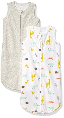 Amazon Essentials 2-Pack Microfleece Baby Sleep Sack, Multi Animal, 0-6M