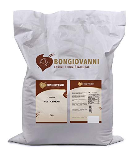 BONGIOVANNI FARINE e BONTA' NATURALI Farina Multicereali, 20 Tipologie di Farine, Fiocchi, Semi - Formato da 5kg