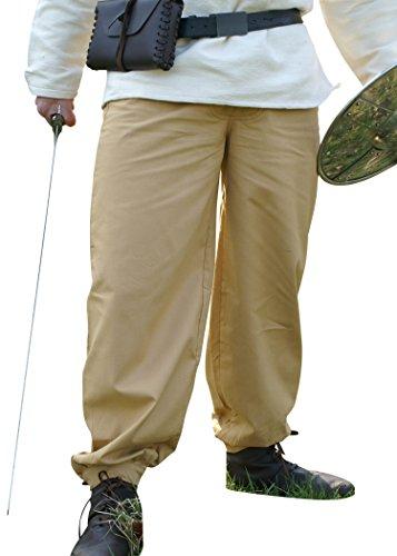 La edad media pantalones - pantalones, colour marrón - de la Edad media de algodón, Medieval, vikingo, pantalones, todo el año, color Marrón - marrón, tamaño M