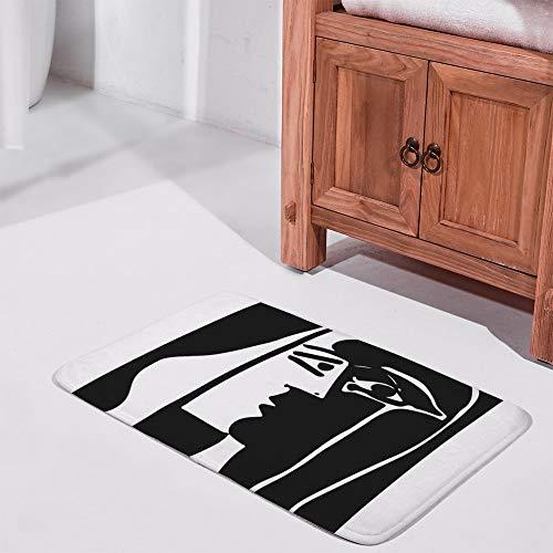 Rode ROSEY indoor matPablo Picasso Kiss 1979 Kunstwerk Reproductie Voor T Shirt, Ingelijste Prints -up Silhouette Patroon Badmat voor binnen/buiten/Voordeur/Slaapkamer 60X40cm