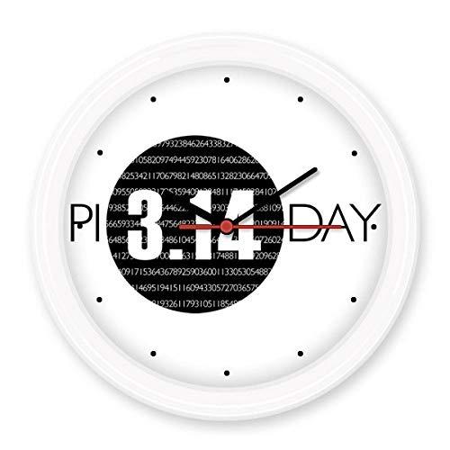 BeatCong 3.14 Día Pi Aniversario silenciosa para no marcando a Pilas Ronda Reloj de parojo Decorativo se dirigen la Etiqueta Relojes de Regalo