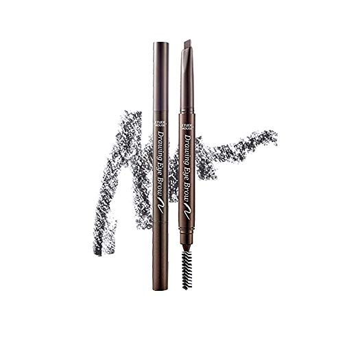 ETUDE HOUSE Drawing Eye Brow 0.25g #4 Dark Grey | Long Lasting Eyebrow Pencil | Soft Textured Natural Daily Look Eyebrow Makeup