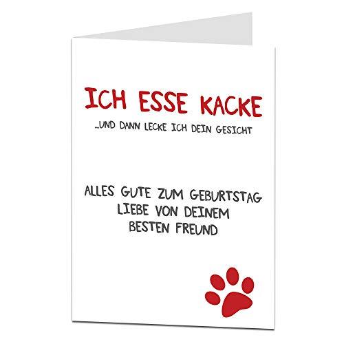 Hund Geburtstagskarte Lustig Perfekt für jeden Besitzer Liebhaber Freche Alternative Karte für Mama Papa Oma Opa, Ehemänner & Ehefrauen, Freunde und Familie, Männer & Frauen