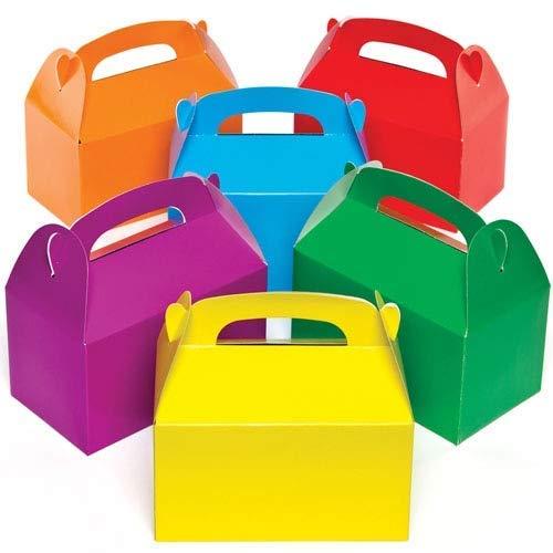 Baker Ross AG745 Bunte Party-Geschenkschachteln für Kinder zum Basteln, Dekorieren und Füllen (6 Stück), Sortiert, 15.5cm x 8.5cm x 9cm, 6 Pack