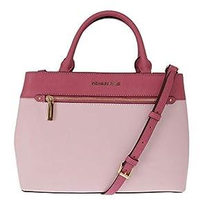 Michael Kors Women's Hailee Medium Leather Satchel Crossbody Bag Purse Tote Handbag