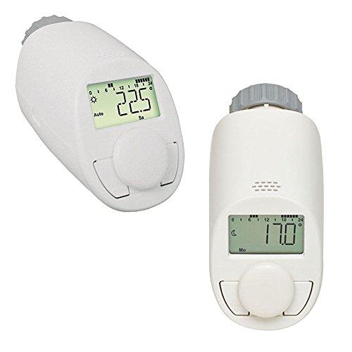 2er Set Elektronik Heizkörper Thermostat mit Boost-Funktion - Verbessertes leises Kompaktgetriebe