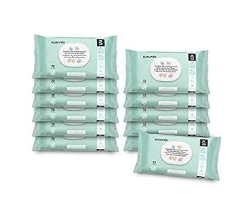 Suavinex toallitas bebé dermohidratantes 864 unidades, aptas para pieles atópicas, 100% biodegradables, 96% ingredientes de origen natural, pack 12 x 72 (864 toallitas)