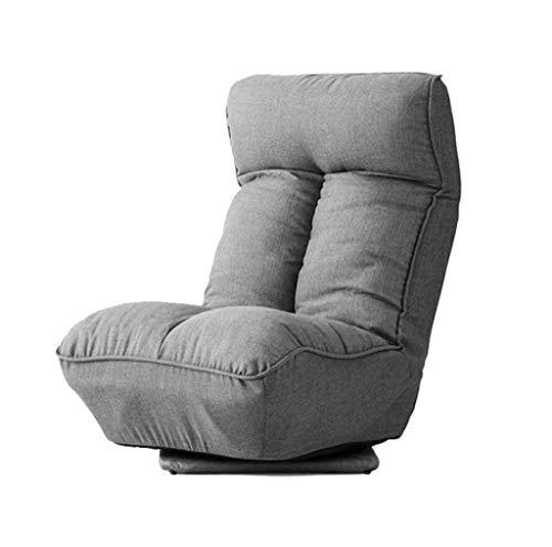 ALYR Pliant Canapé Paresseux Chaise, Rotation de 360 ° dans la Chambre à Coucher du Balcon Canapé-Lit Dossier de réglage et Appui-tête