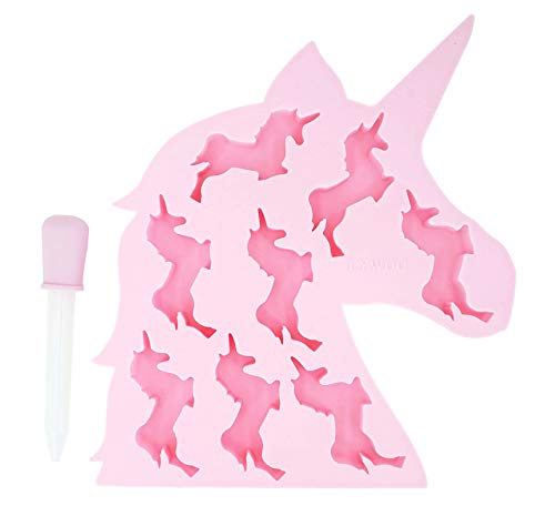 LYWUU Unicorn Silicone Ice Cube Molds and Tray Chocolate Candy Soap Jelly Cookie Gummy Wax Resin (Pink)