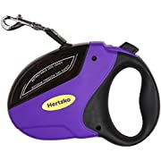Hertzko Heavy Duty Retractable Dog Leash By Great for Small, Medium & Large Dogs up to 110lbs - Strong Nylon Ribbon Extends 16ft