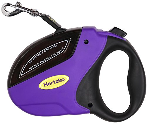 Heavy Duty Retractable Dog Leash by Hertzko - Great for Small,...