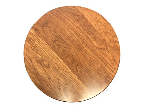 Wood Lazy Susan Turntable – Solid Wooden Spinning Kitchen Table Organizer – Scratch Resistant Felt Bottom – 360 Degree Smooth Rotation Swivel (18