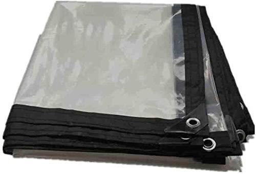 para al Aire Libre, Patio y jardín De Vidrio Transparente de PVC Resistente al Agua Hoja Lona Lona Cubierta de Tierra Ligera (Color : Clear, Size : 26.4x26.4ft/8x8m)
