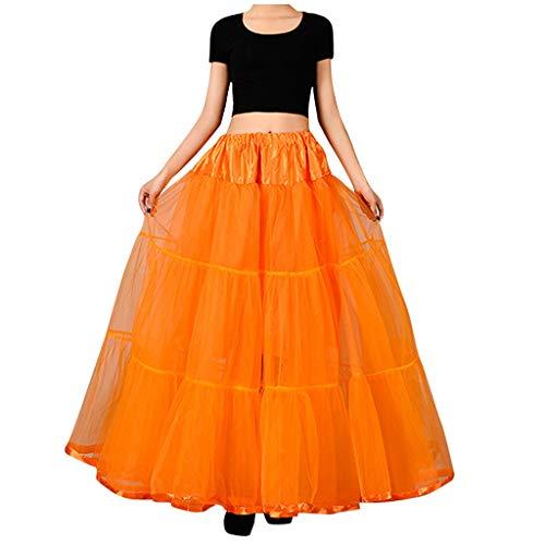 KPILP 50er Jahre Petticoat Vintage Retro Reifrock Underskirt Tutu Ballett Karneval Unterkleid für Damen Mädchen Rockabilly Bridal Wedding Kleid