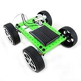 Lodenlli Mini plástico Hecho a Mano Solar Powered Toy DIY Kit de Coche Tecnología para niños Gadget Educativo Hobby Kit Divertido 8-11 años