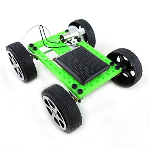 Lodenlli Mini plástico Hecho a Mano Solar Powered Toy DIY Kit de Coche Tecnología para niños...
