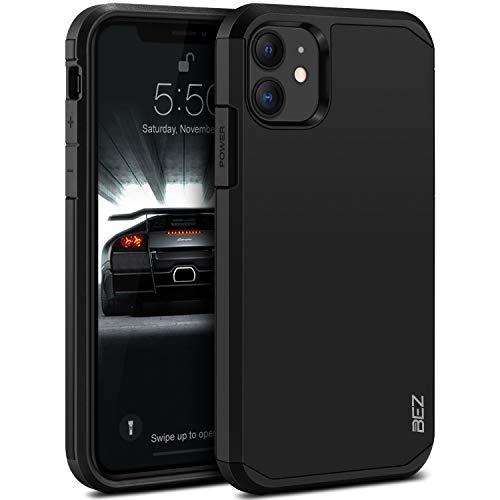 BEZ Cover iPhone 11, Custodia per iPhone 11 Rigida Protettiva con Impact [Antiurto, Assorbimento-Urto] Bumper Protezione da Cadute e Urti Posteriore, Nero